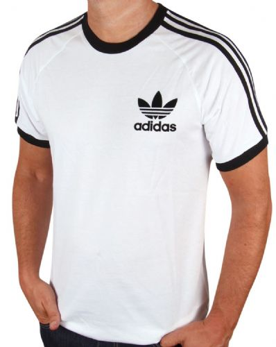 Adidas Originals Men's Crew Neck Retro Trefoil Casual T Shirt Tee White
